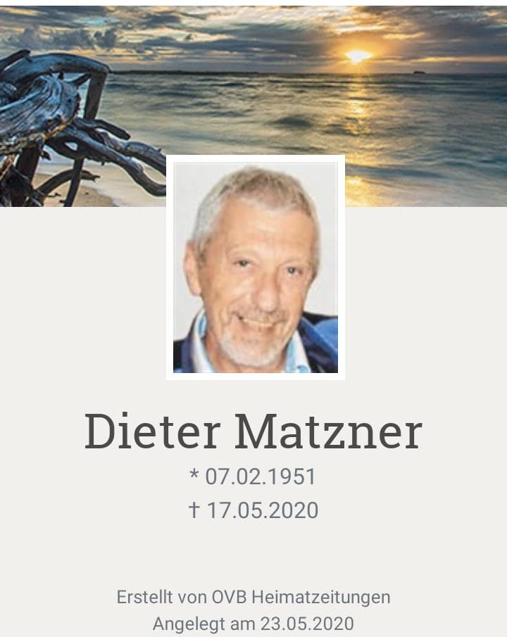 Nachruf Dieter Matzner
